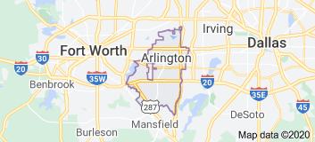 arlington tx map